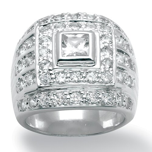 Men's DiamonUltra and Trade Cubic Zirconia Sterling Silver Ring