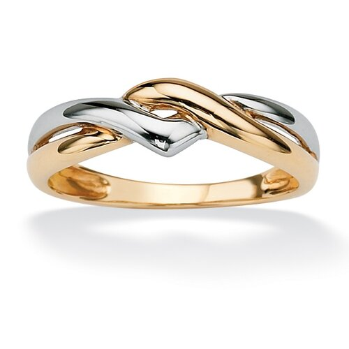 Tutone 10k Gold Twist Ring