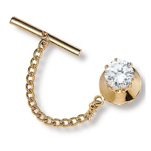 Palm Beach Jewelry Men's Cubic Zirconia Tie Tac