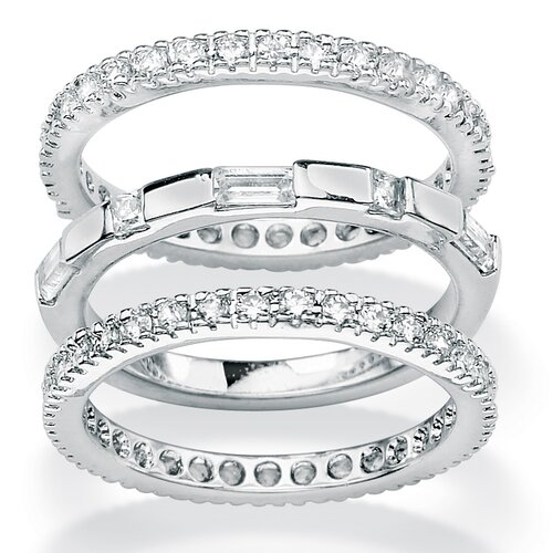 Palm Beach Jewelry Cubic Zirconia Eternity Bands