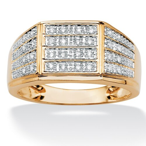 Palm Beach Jewelry Men's Multi-Row Diamond Ring