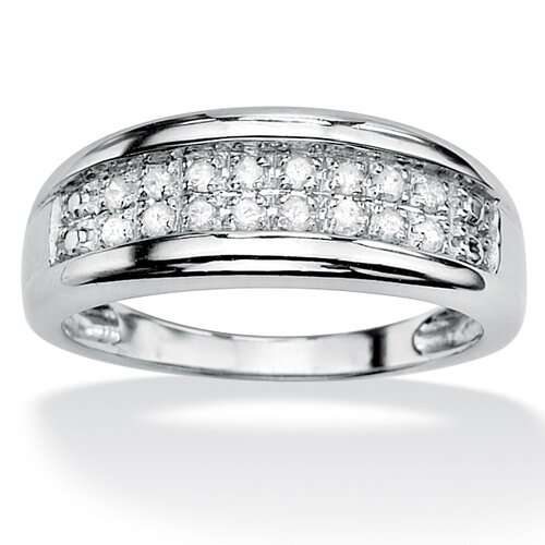 Round Diamond Double-Row Ring