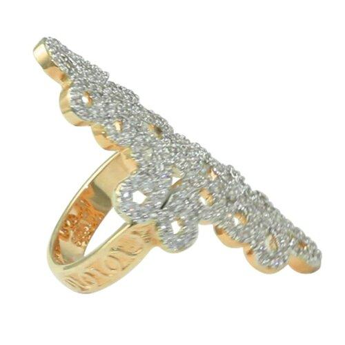Palm Beach Jewelry Cubic Zirconia Elongated Swirl Ring