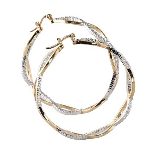 Palm Beach Jewelry Crystal Inside-Out Hoop Earrings