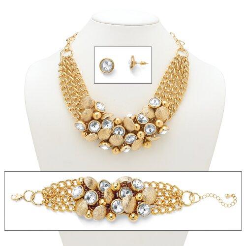 Rhinestone and Bead Circle Jewelry