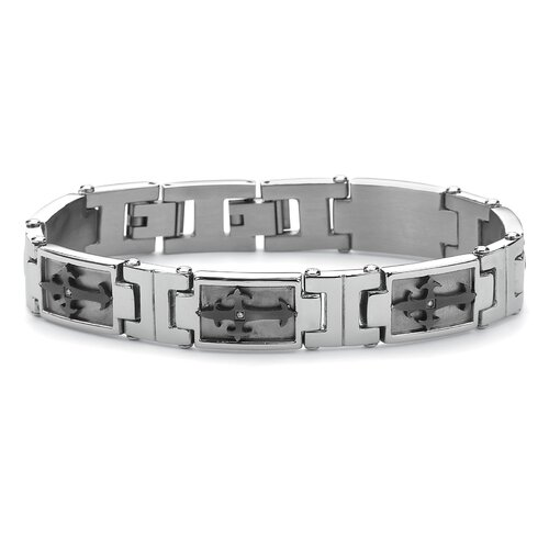 Men's Cross-Link Cubic Zirconia Bracelet