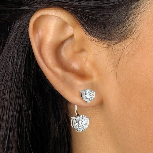 Palm Beach Jewelry Cubic Zirconia 2-in-1 Earrings