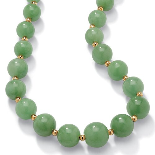 Palm Beach Jewelry Green Jade Beaded Necklace