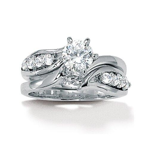 Palm Beach Jewelry Cubic Zirconia Wedding Set