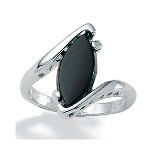 Palm Beach Jewelry Onyx and Silver Ring