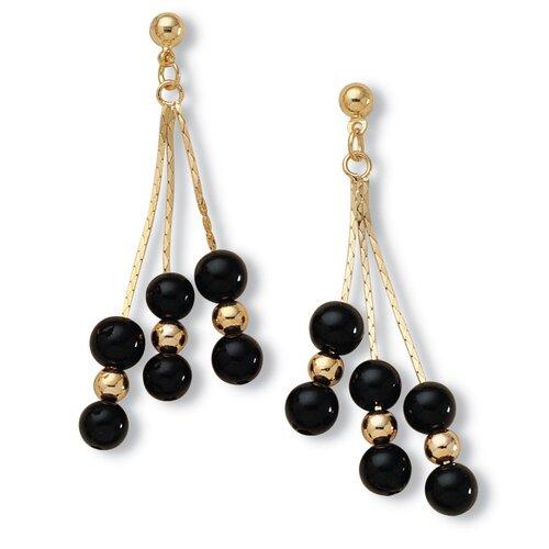 Palm Beach Jewelry Onyx Dangle Earrings