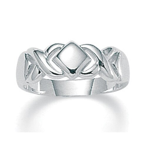 Palm Beach Jewelry Sterling Silver Hugs and Kisses Ring
