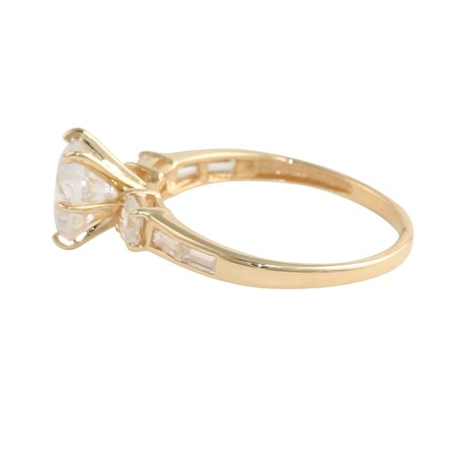 Palm Beach Jewelry 10k Gold Round Cubic Zirconia Ring