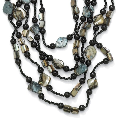 Palm Beach Jewelry Brass Multi-Strand Beaded Necklace