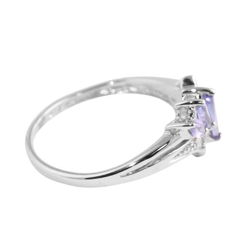 Tanzanite Diamond Acc.10k Ring