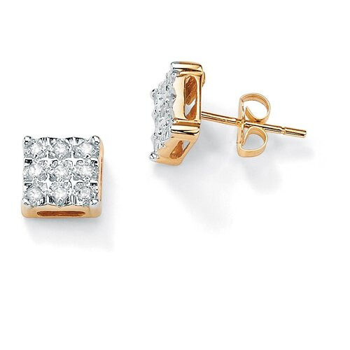 Diamond Square-Shaped Earrings