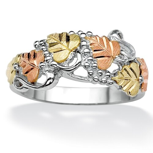 Palm Beach Jewelry Silver Multi Leaf and Vine Ring