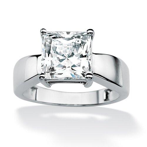 Palm Beach Jewelry Gold Princess Cubic Zirconia Ring