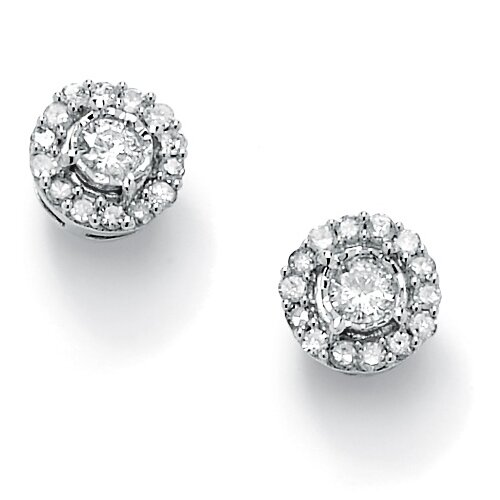 Round Diamond Cluster Earrings (Set of 2)