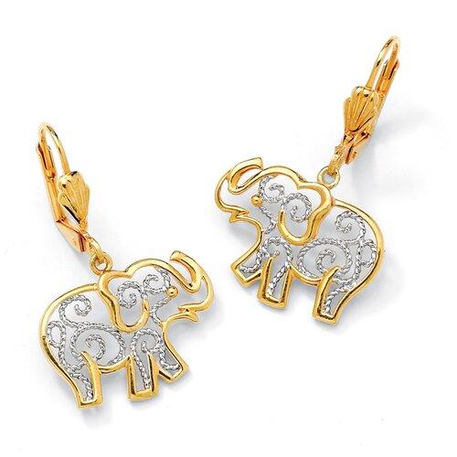 Filigree Elephant Pierced Earrings