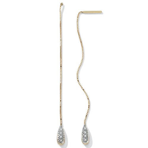 Palm Beach Jewelry Diamond Accent 10k Gold Earrings