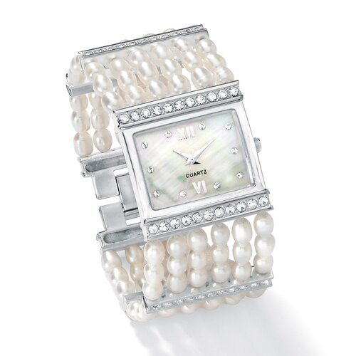 Palm Beach Jewelry Cultured Freshwater Pearl Watch