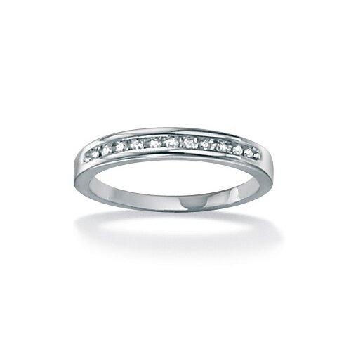 Round Cut White Diamond Wedding Band