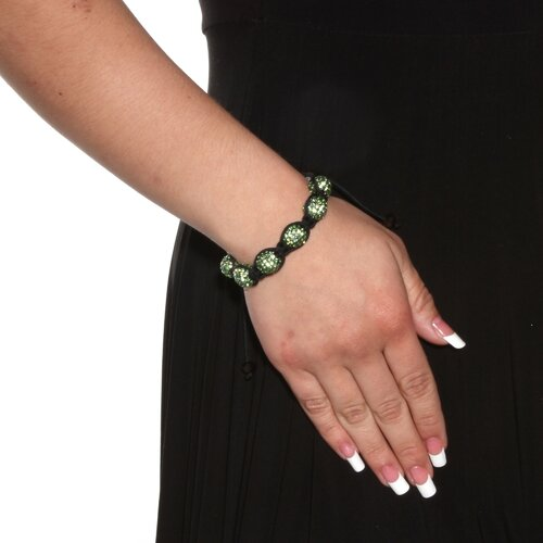 Palm Beach Jewelry Green Crystal Cord Bracelet