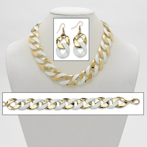 Palm Beach Jewelry Goldtone Curb-Link Chain Jewelry Set