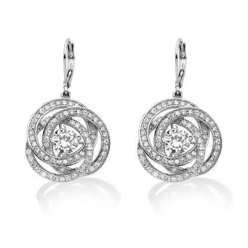 Round Cut Cubic Zirconia Drop Earrings