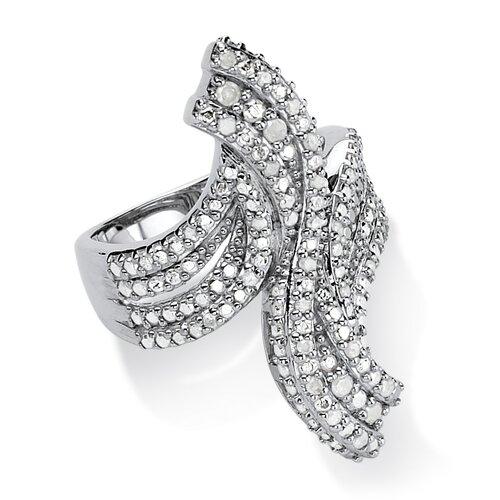 Round Cut Ice Diamond Statement Ring