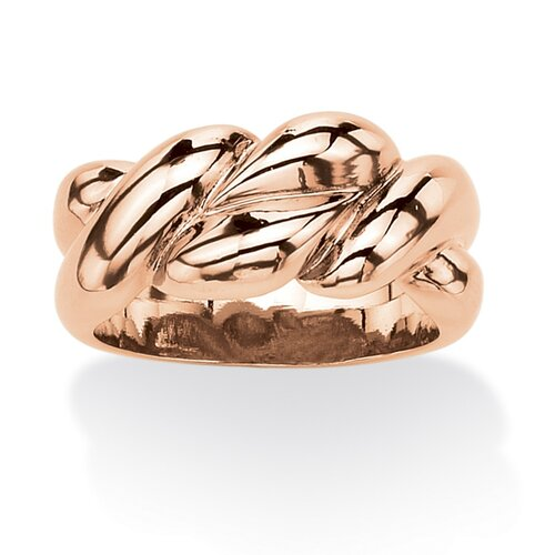 Rose Gold Plated Braided Ring