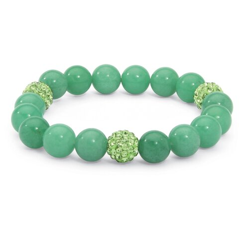 Jade Birthstone Stretchy Beaded Bracelet