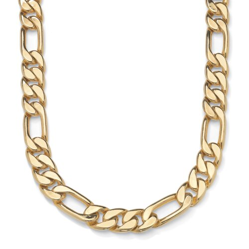Men's Goldtone Figaro Chain