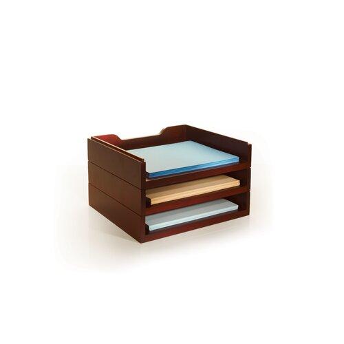 Bindertek Dealer Solutions Stack and Style Desktop Letter Tray