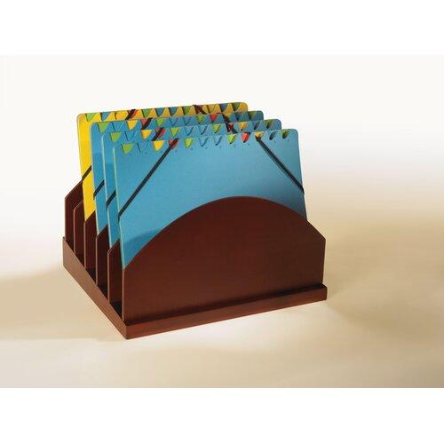 Bindertek Dealer Solutions Stack and Style Wood Step-Up Project Management File Caddy