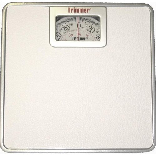 Trimmer Silver Frame Mechanical Bathroom Scale with Square Display