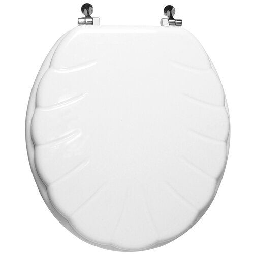Trimmer Engraved Wood Round Toilet Seat