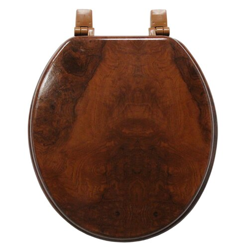Marbleized Molded Wood Round Toilet Seat