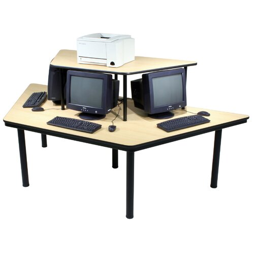 Paragon Furniture Economy 3 Station Multi-User Computer Table