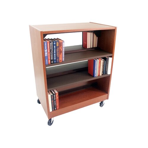 Paragon Furniture Double Face Mobile Shelving Unit with Deflecta-Stops and Casters