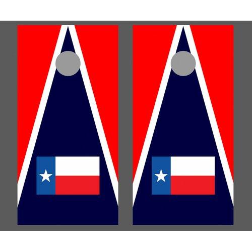 Texas Triangle Flag Cornhole Bean Bag Toss Game