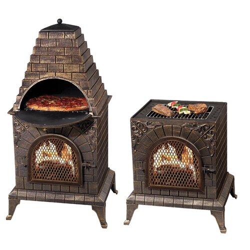 Deeco Aztec Allure Pizza Oven Outdoor Fireplace