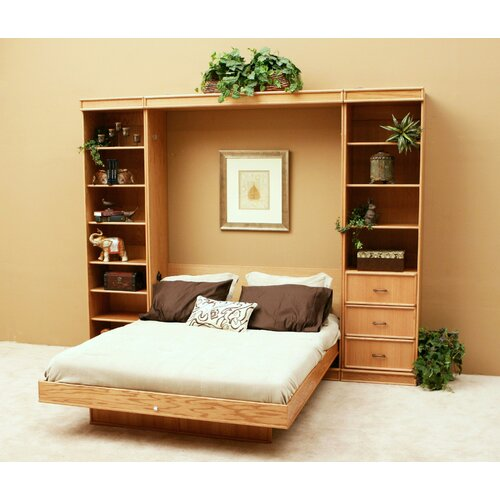 Transitional Oak Murphy Bed