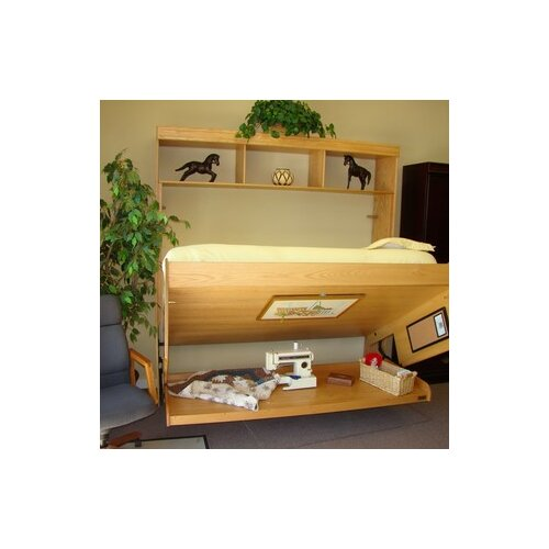Wallbeds Contemporary Oak Murphy Bed & Reviews | Wayfair
