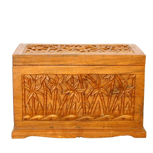 EXP Décor Handmade Palm Tree Design Trunk Coffee Table