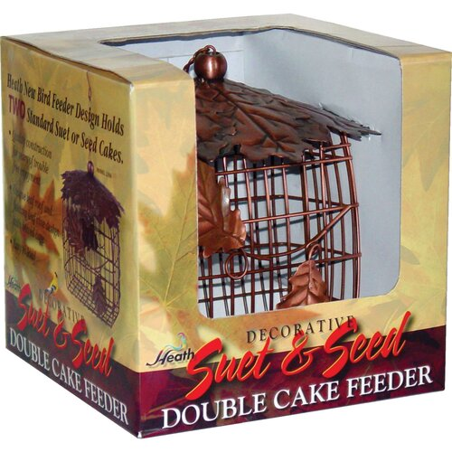 Heath Outdoor Products Leaf Double Suet/Seed Cake Decorative Bird Feeder