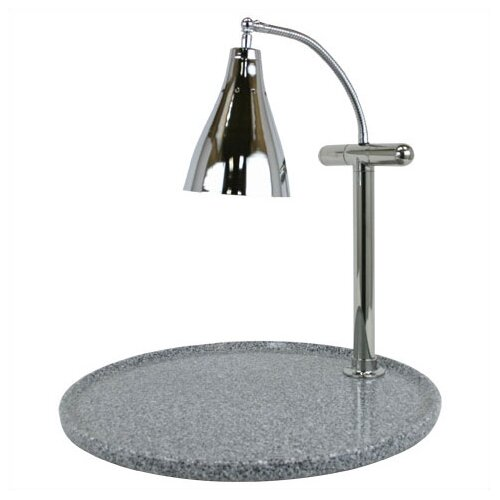 Buffet Enhancements Stainless Steel Single Gooseneck Lamp Round Carving Station