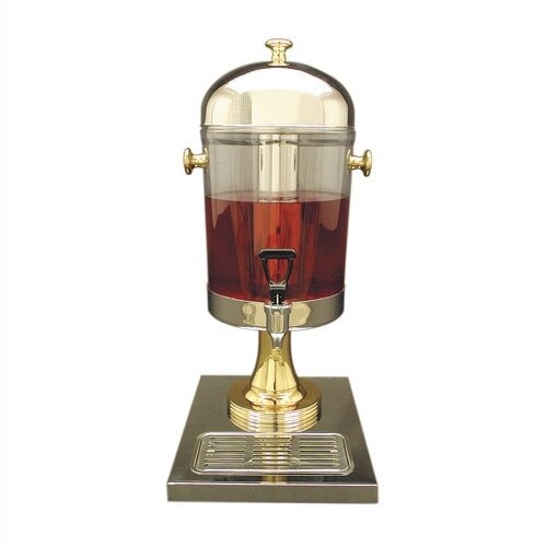 Buffet Enhancements 2 Gal. Juice Dispenser in Stainless Steel and Brass