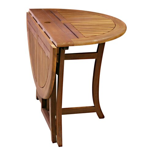 Outdoor Folding Table : Outdoor Interiors Eucalyptus Round Folding Table & Reviews  Wayfair